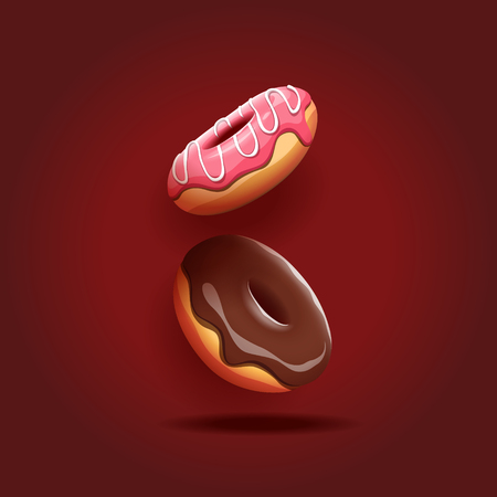Vector illustration of delicious donuts.