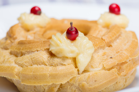 zeppola: zeppola St. joseph with berries Stock Photo