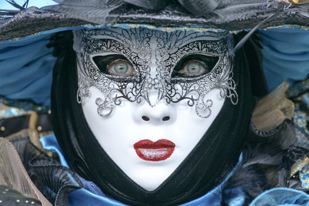 woman behind: Woman behind the mask Stock Photo