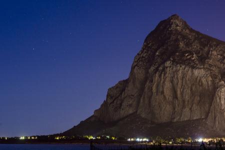 san: San Vito Lo Capo view in the night Stock Photo