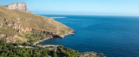 san: San Vito Lo Capo view sea and sun Stock Photo