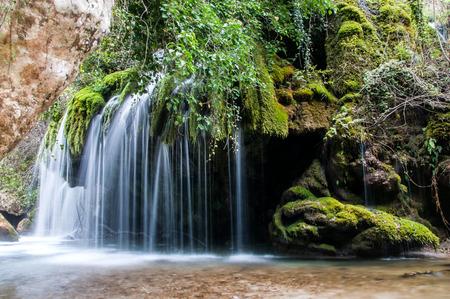 hinterland: Waterfall along the river - Venus Hair in hinterland between Calabria and Campania