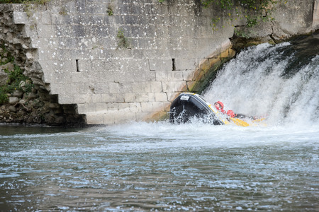 rafting: rafting in the river
