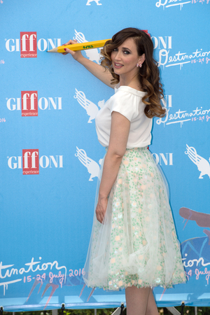 21: Giffoni Valle Piana, SA, ITALY - July 21, 2016: Actress Chiara Francini attends at Giffoni Film Festival 2016 - on July 21, 2016 in Giffoni Valle Piana, Italy.