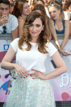 21: Giffoni Valle Piana, SA, ITALY - July 21, 2016: Actress Chiara Francini on blue carpet at Giffoni Film Festival 2016 - on July 21, 2016 in Giffoni Valle Piana, Italy.