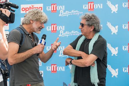 blue carpet: Giffoni Valle Piana, SA, ITALY - July 21, 2016: Musician Eugenio Bennato on blue carpet at Giffoni Film Festival 2016 - on July 21, 2016 in Giffoni Valle Piana, Italy.