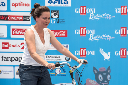 21: Giffoni Valle Piana, SA, ITALY - July 21, 2016: Actress Sabina Guzzanti attends at Giffoni Film Festival 2016 - on July 21, 2016 in Giffoni Valle Piana, Italy. Editorial