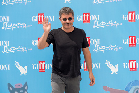 sa: Giffoni Valle Piana, SA, ITALY - July 21, 2016: Director Paolo Genovese on photocall attends at Giffoni Film Festival 2016 - on July 21, 2016 in Giffoni Valle Piana, Italy.