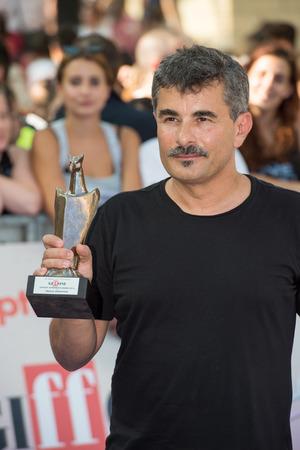 blue carpet: Giffoni Valle Piana, SA, ITALY - July 21, 2016: Director Paolo Genovese on blue carpet interview at Giffoni Film Festival 2016 - on July 21, 2016 in Giffoni Valle Piana, Italy.