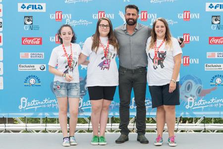 sa: Giffoni Valle Piana, SA, ITALY - July 23, 2016: Actors Simone Montedoro at Giffoni Film Festival 2016 - on July 23, 2016 in Giffoni Valle Piana, Italy.