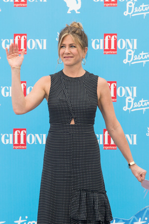 sa: Giffoni Valle Piana, SA, ITALY - July 23, 2016: Actress Jennifer Aniston at Giffoni Film Festival 2016 - on July 23, 2016 in Giffoni Valle Piana, Italy. Editorial