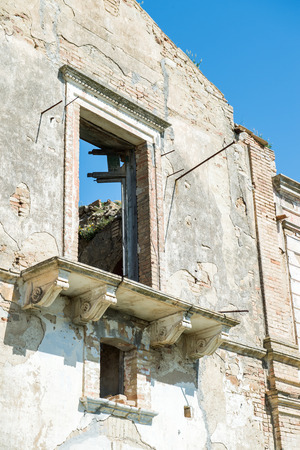 lucania: Italian city Craco in the province of matera. Ghosts city in south Italy
