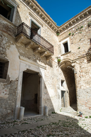 Italian city Craco in the province of matera. Ghosts city in south Italy