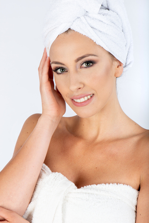 Woman in beauty center spa on the studio Stock Photo
