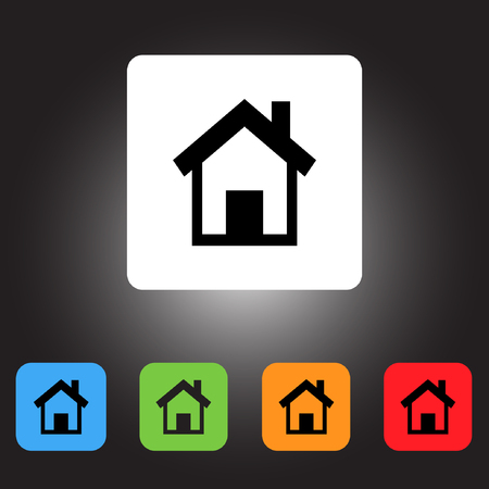 green button: Home icon Illustration