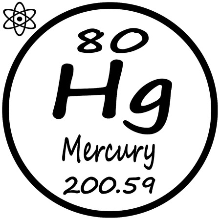Periodic table of elements mercury royalty free cliparts vectors periodic table of elements mercury vector urtaz Image collections