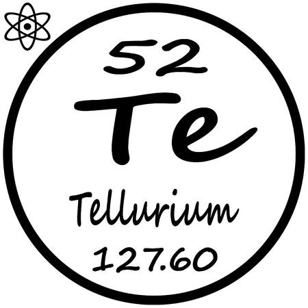 Tabla peridica de los elementos xenon ilustraciones vectoriales tabla peridica de los elementos telurio urtaz Image collections