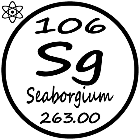 Periodic Table Of Elements Seaborgium Royalty Free Cliparts