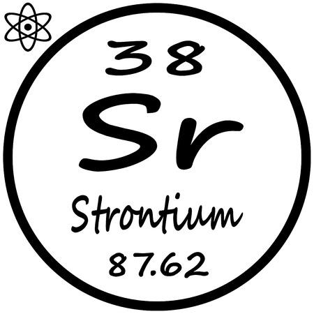 periodic: Periodic Table of Elements - Strontium