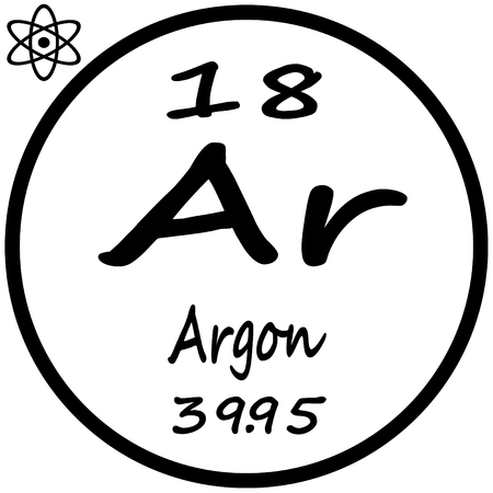 argon: Periodic Table of Elements - Argon Illustration