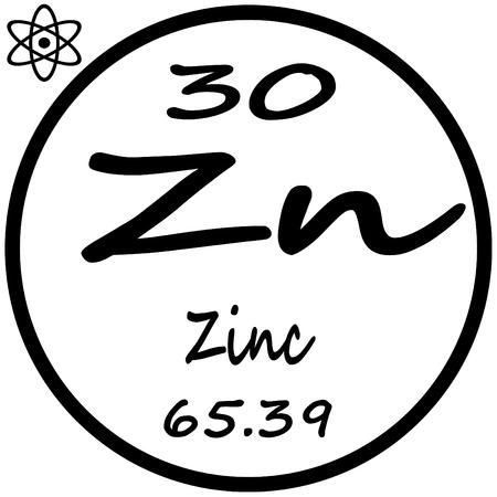 Periodic Table Of Elements Zinc Royalty Free Cliparts Vectors