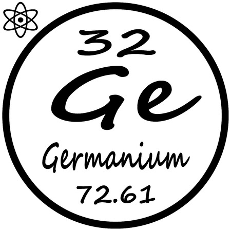 periodic table of the elements: Periodic Table of Elements - Germanium Illustration