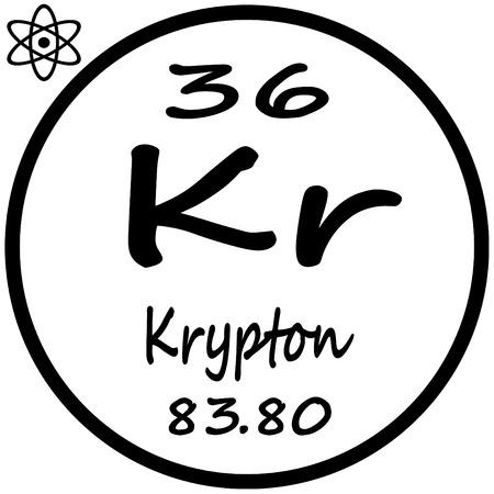 Periodic Table of Elements - Krypton