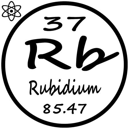 Periodic Table Of Elements Rubidium Royalty Free Cliparts Vectors
