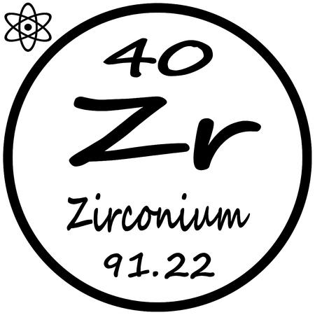 periodic: Periodic Table of Elements - Zirconium Illustration