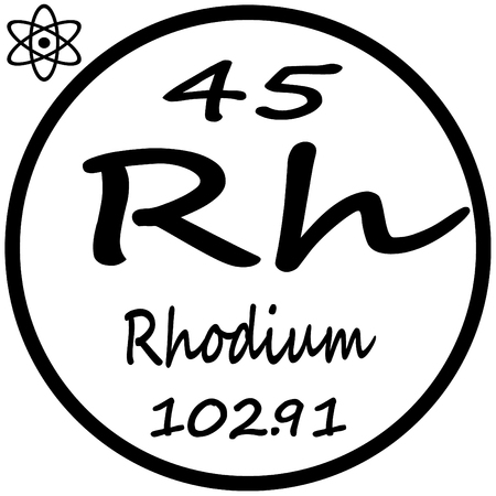 rh: Periodic Table of Elements - Rhodium Illustration