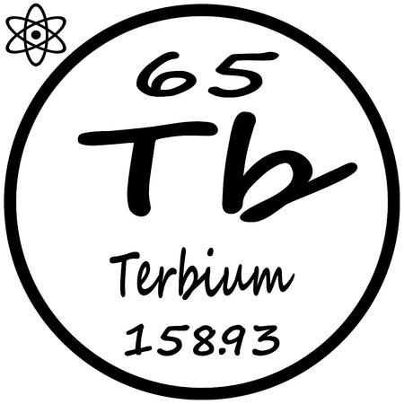 tb: Periodic Table of Elements - Terbium Illustration