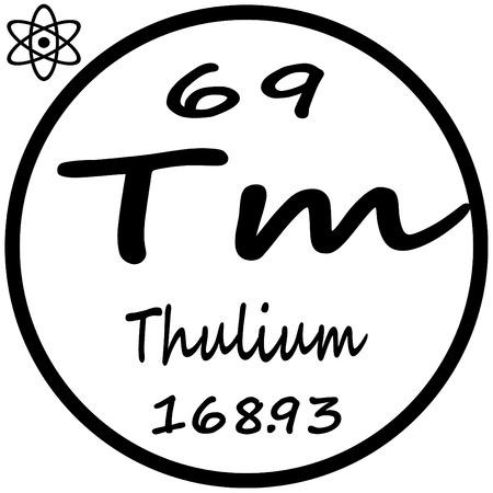 periodic: Periodic Table of Elements - Thulium Illustration