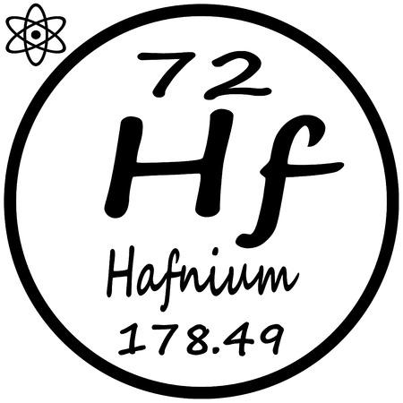 periodic: Periodic Table of Elements - Hafnium Illustration