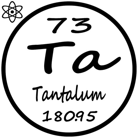 Periodic Table Of Elements Tantalum Royalty Free Cliparts Vectors