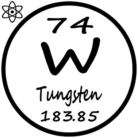 periodic table: Periodic Table of Elements - Tungsten Illustration