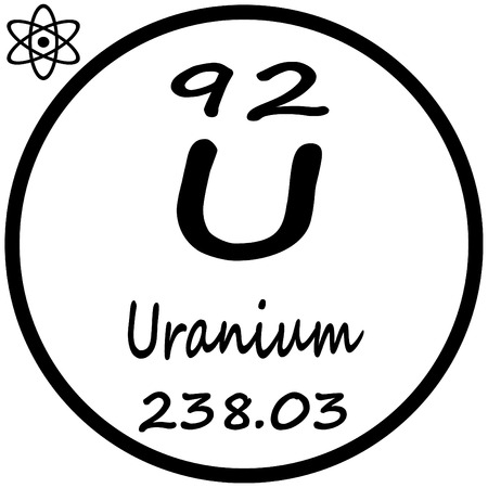 uranium: Periodic Table of Elements - Uranium Illustration