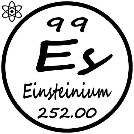 periodic: Periodic Table of Elements - Einsteinium Illustration