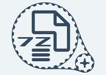 file extension: Flat Vector illustration.  7Z file extension.  7Z Icon Graphic.  7Z  symbol.  7Z  Icon Art.  7Z Icon illustration.  7Z  Icon Vector.