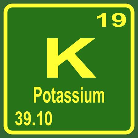 potassium: Periodic Table of Elements - Potassium Illustration