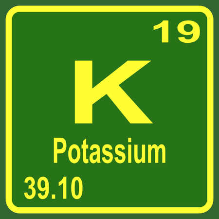 Periodic Table of Elements - Potassium Illustration