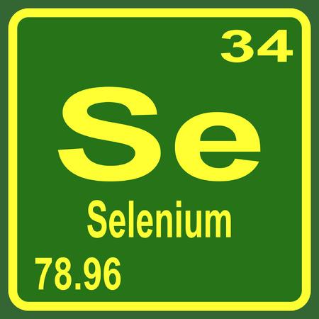 selenium: Periodic Table of Elements - Selenium Illustration