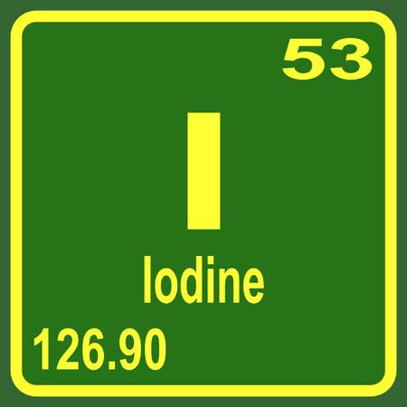 Tableau périodique des éléments - Iode