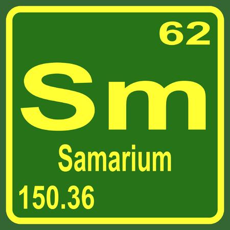 Periodic Table of Elements - Samarium Illustration