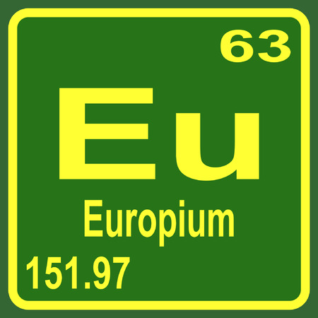 periodic table of the elements: Periodic Table of Elements - Europium Illustration