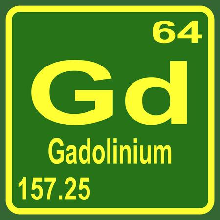 Periodic Table of Elements - Gadolinium Illustration