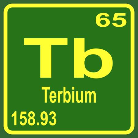 periodic table: Periodic Table of Elements - Terbium Illustration