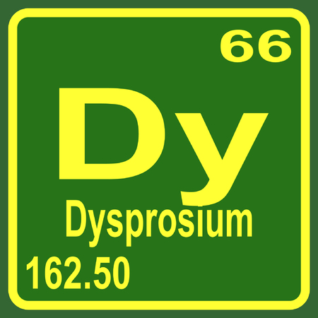 periodic table: Periodic Table of Elements - Dysprosium Illustration