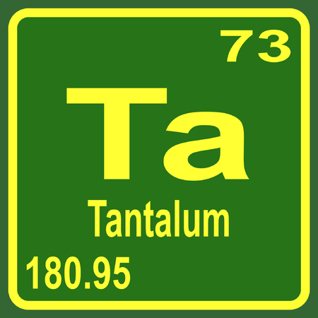 periodic table of the elements: Periodic Table of Elements - Tantalum Illustration