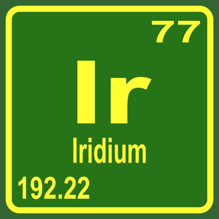 Periodic Table of Elements - Iridium Illustration