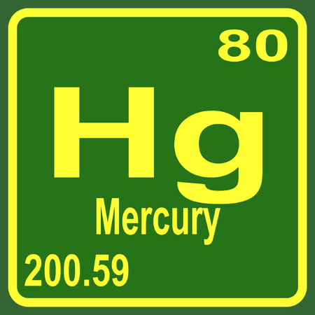 Periodic Table Of Elements Mercury Royalty Free Cliparts Vectors